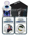 2015 CERTIFIED SILVER STAR TREK TWO COIN SET NGC PF70 FIRST RELEASES JANEWAY