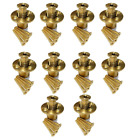 Wood Grip Wood Deck Brass Anchor for Pool Safety Cover 10 Pack