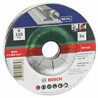 Bosch 2609256332 Cutting Disc Set with Depressed Center for Metal 5-Piece
