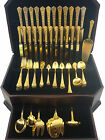 CLUNY VERMEIL BY GORHAM STERLING SILVER FLATWARE SET SERVICE 140 PIECES