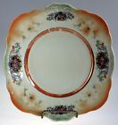 Vintage Orange Lustre Ware Luster 9 inch Square Platter Marked Made in Bavaria