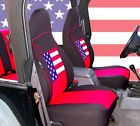 1997 2002 Jeep Wrangler TJ neoprene seat covers Front  Rear Red US flag TJ127US