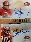 2009 SP Authentic Immortals Jerry Rice Steve Young Auto Autograph Card 09 15