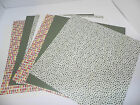 LOT ARTICHOKE DOT STAMPIN UP DOUBLESIDED DESIGNER PAPER 12 X12 CARDSTOCK