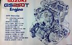 1979 Suzuki GS250T - Engine Poster - Motorcycle - Japan - Vintage - Original