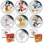 Friends Set of 6 x $2 Colored 1 Oz Silver Proof Coins