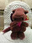 Vintage 1983 Dakin Purple Pink Plush Winged Duncan Dragon 9 New with Tag