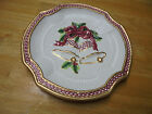 FITZ AND FLOYD HOLIDAY BELLS CANAPE PLATE - MADE IN CHINA