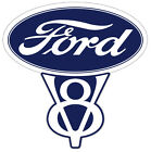 Vintage Ford V8 Decal 55 in size Free Shipping