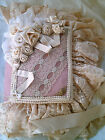 Ivory Hand Crafted Victorian Tie Wedding Photo Album Ribbon Lace!