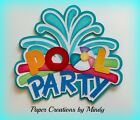 Craftecafe Mindy Summer Pool Party Title premade paper piecing for scrapbook