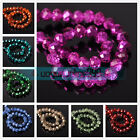 Wholesale Rondelle Faceted Crystal Glass Loose Spacer Beads Finding 4 6 8 10mm