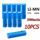 10PCS 5000mAh Li-ion 18650 3.7V Rechargeable Battery For Flashlight From USA