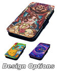 Stained Glass Beauty and the Beast | Printed Faux Leather Flip Phone Cover Case