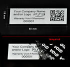 10,000 SECURITY LABELS STICKER SEAL CUSTOM PRINT METALLIC SILVER XBOX 60MM X18MM
