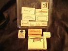 """Stampin' Up!.....2006 -  """"Noteworthy""""....Lot - 1 Set & Extras...total 13 stamps"""
