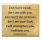 ISAIAH 4110 Do Not Fear mounted rubber stamp 6 Christian bible verse
