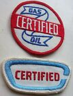 Vintage Employee Uniform Patch Lot Certified Gas Oil & Certified Arm Hat Patch
