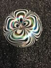 Terry Crider 1977 Pulled Feather GREEN/WHITE GLASS PAPERWEIGHT CLOSEOUT PRICE !