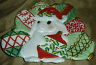 Fitz and Floyd CHRISTMAS BUNNY BLOOMS Plate FF
