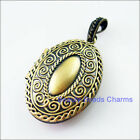 1Pc Antiqued Bronze Oval Clouds Picture Locket Frame Charms Pendants 27x42mm