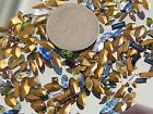 150 TINY SWAROVSKI MIXED RHINESTONES CRYSTAL LOT VTG JEWELRY NAVETTES PEARS OVAL