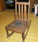 Antique Wooden Child's Rocking Chair from Early 1900's