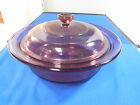 Corning USA Pyrex Vision Ware  V-31-B Cranberry 1 Quart Casserole Dish with Lid