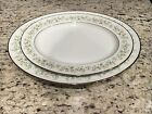 "2 NORITAKE CHINA SAVANNAH OVAL SERVING PLATTERS 13 ½"" 11 5/8"" PLATINUM RIM 2031"