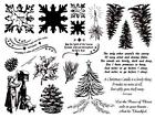 8 1/2 x 11 rubber stamp sheet Christmas images #19