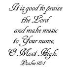 Praise the Lord make musicChristian unmounted rubber stamp 6 bible verse