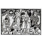 Victorian Christmas UNMOUNTED rubber stamp detailed Merry Scene holiday 13