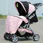 06 Single Baby Pink Fabric + Aluminum Alloy Collapsible 6 Wheels Strollers