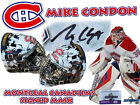 MIKE CONDON Signed MONTREAL CANADIENS Full Size GOALIE MASK w COA HOLOGRAM #1