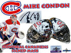 MIKE CONDON Signed MONTREAL CANADIENS Full Size GOALIE MASK w COA HOLOGRAM #2