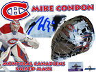 MIKE CONDON Signed MONTREAL CANADIENS Full Size GOALIE MASK w COA HOLOGRAM #3