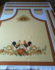 OOP PROVENCE by FABRI-QUILT FABRIC PANEL FRENCH COUNTRY  CHICKEN'S COTTON