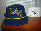 Corduroy MICHIGAN WOLVERINES BLUE YELLOW Cap COLLEGE Football Hat UNIVERSAL NEW