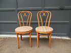 Vtg mid century bent wood chair Palor bistro Thonet style Shelby Williams set 2