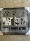 Mickey Mantle Hank Aaron Willie Mays Autograph Framed Picture 24x27 GAI