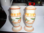 FITZ & FLOYD GRAND HAVEN SALT & PEPPER SHAKERS HTF DISCONTINUED