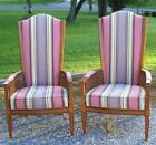VINTAGE MID CENTURY PAIR OF HIGH BACK CANE WING CHAIRS