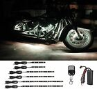 6pc Motorcycle Engine Glow LED Lights Strip Kit Harley Tri Glide Classic- WHITE