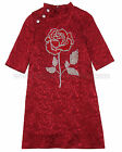Love Made Love Girls Jacquard Dress with Crystal Rose Sizes 6 12