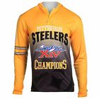 MEN'S NFL PITTSBURGH STEELERS SUPER BOWL XIV PULL-OVER HOODIE ONE POCKET XLARGE