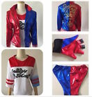 Batman DC Suicide Squad Harlei Quinn Cosplay Costume Jacket Shirt Short Glove