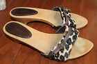gianni bini sandals slides mules womens ROCKABILLY 8 leopard print brown western