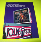 ROLLING STONES By Bally 1980 ORIGINAL NOS Pinball Machine Fold-out SALES FLYER