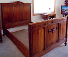 Antique 6pc English Oak and Marble Bedroom Set - 1800s Vintage Excellent Shape
