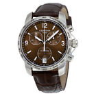 Certina DS Podium Chronograph Brown Dial Brown Leather Mens Watch C0014171629700